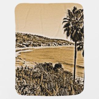 laguna beach vintage baby blanket