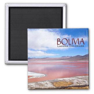 Laguna Colorada in Bolivia text magnet