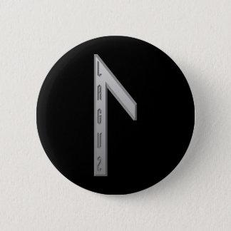 Laguz Rune grey 2 Inch Round Button