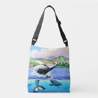Lahaina Humpback Whales Crossbody Bag