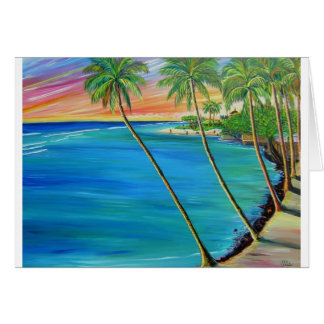 Lahaina view of baby beach card