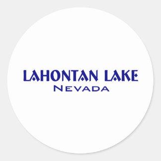 Lahanton Lake Nevada Round Sticker