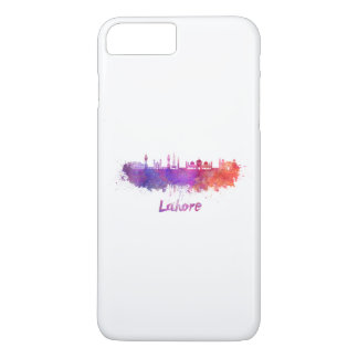 Lahore skyline in watercolor iPhone 8 plus/7 plus case