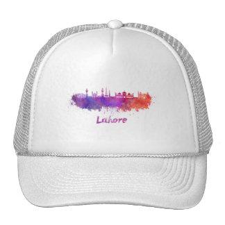 Lahore skyline in watercolor trucker hat