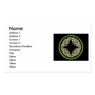 Laid back brown and green ornament business card templates