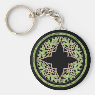 Laid back brown and green ornament keychain