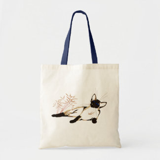 Laid Back Siamese with Leaves Bag