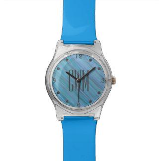 Laidback Bling | Monogram Turquoise Blue Aqua | Watch