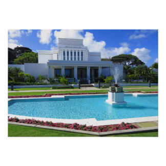 Laie, Hawaii Mormon Temple Poster