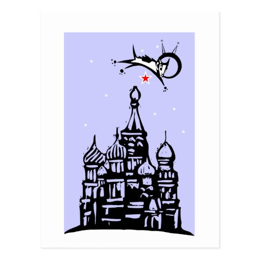 Laika over Red Square Postcards