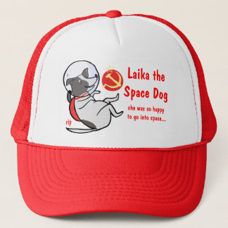 laika the space dog trucker hat