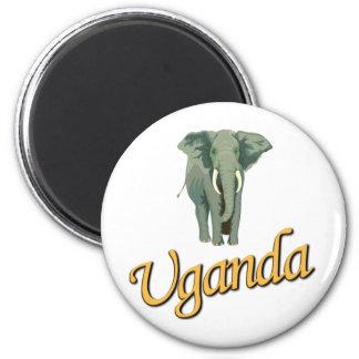 L'aimant d'éléphant africain magnet rond 8 cm