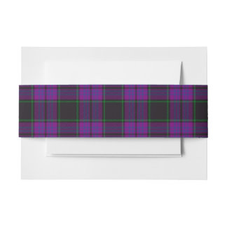 Laird Scottish Tartan Belly Band Invitation Belly Band