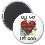 Laissé allez laissez Dieu Magnets Pour Réfrigérateur