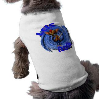 Laisse le chien de roche tee-shirts pour animaux domestiques