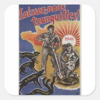 Laissez-nous Propaganda Poster Square Sticker