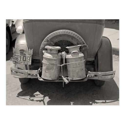 Lait Cans, 1939 Cartes Postales