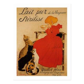 Lait Pur de la Vingeanne Sterilise Postcard