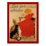 Lait pur français de Vineanne Cartes Postales
