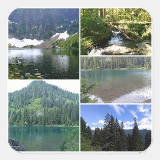 Lake 22 Collage Square Sticker