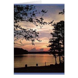 Lake Acworth, GA Sunset Card