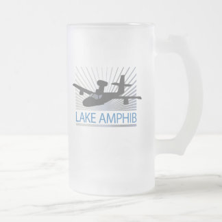 Lake Amphib Aviation Frosted Glass Beer Mug