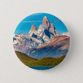 Lake and Andes Mountains, Patagonia - Argentina 2 Inch Round Button