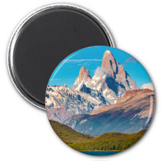 Lake and Andes Mountains, Patagonia - Argentina 2 Inch Round Magnet