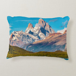 Lake and Andes Mountains, Patagonia - Argentina Decorative Pillow