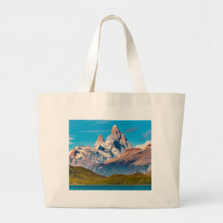 Lake and Andes Mountains, Patagonia - Argentina Large Tote Bag