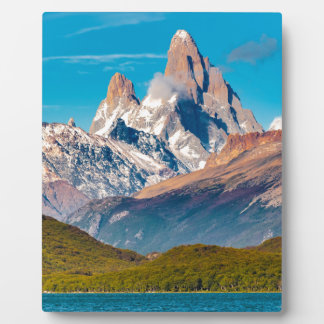 Lake and Andes Mountains, Patagonia - Argentina Plaque