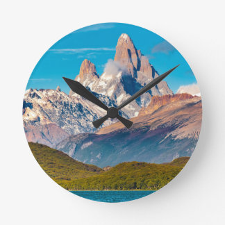 Lake and Andes Mountains, Patagonia - Argentina Round Clock