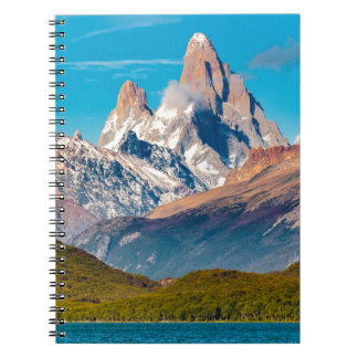 Lake and Andes Mountains, Patagonia - Argentina Spiral Notebooks