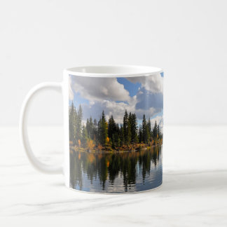 Lake and forest scene coffee mug