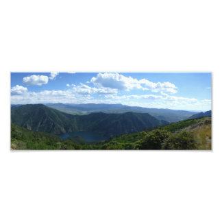 Lake and Hills Panorama Photo Print