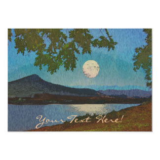 "Lake and Moon Reflections 5"" X 7"" Invitation Card"