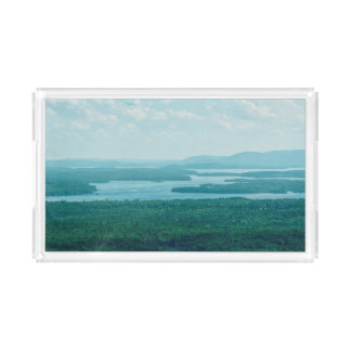 Lake and Mountain View Acrylic Tray