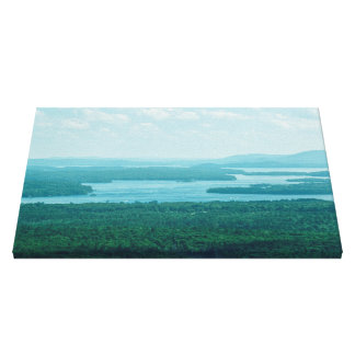 Lake and Mountain View Canvas Print