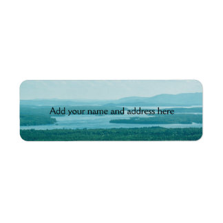 Lake and Mountain View Return Address Label