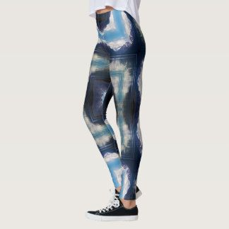 Lake and Mountains Geometric Leggings
