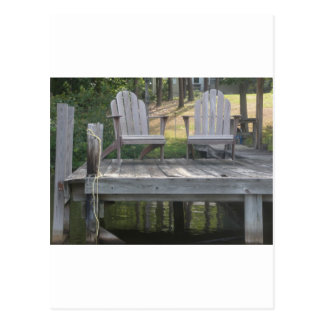 Lake Anna dock chairs Postcard