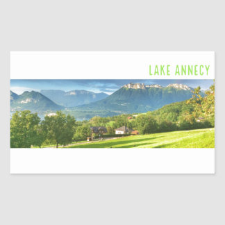 Lake Annecy Stickers (rectangle)