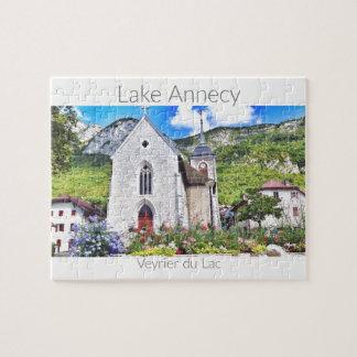 Lake Annecy, Veyrier du Lac - Haute-Savoie Jigsaw Puzzle