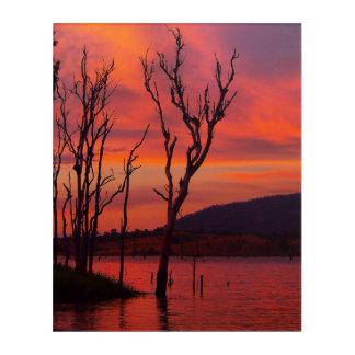 Lake Awoonga sunset acrylic wall art