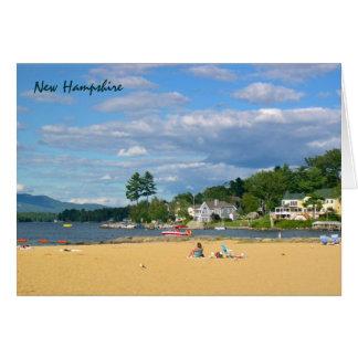 Lake Beach Summer Recreation Blank Note Card