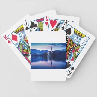 Lake Bled and the Island church Bicycle Playing Cards