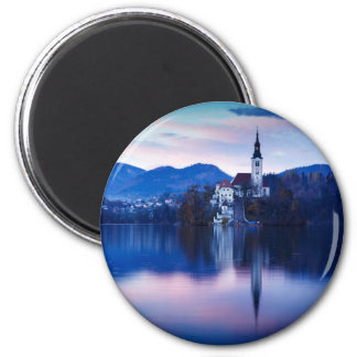 Lake Bled and the Island church Magnet