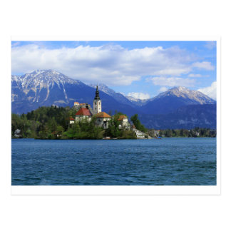 Lake Bled Island - the Treasure of Slovenia Postcard