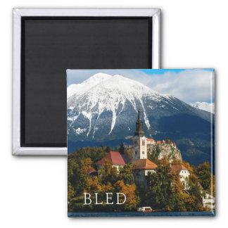 Lake Bled landscape in autumn Magnet
