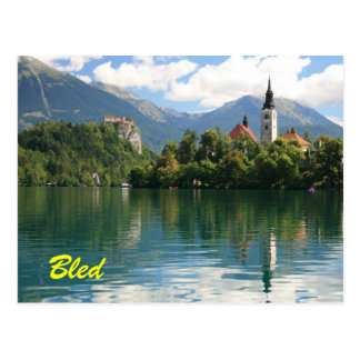 Lake Bled Postcard